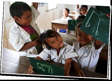 写真:カンボジアに住む子ども達の笑顔