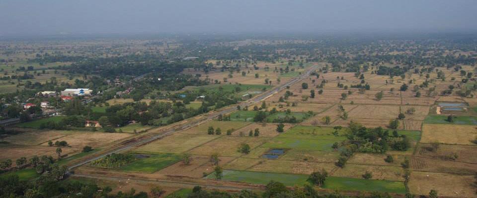 写真:空から見たカンボジアの様子